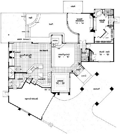 First Floor Plan image of Featured House Plan: BHG - 4103