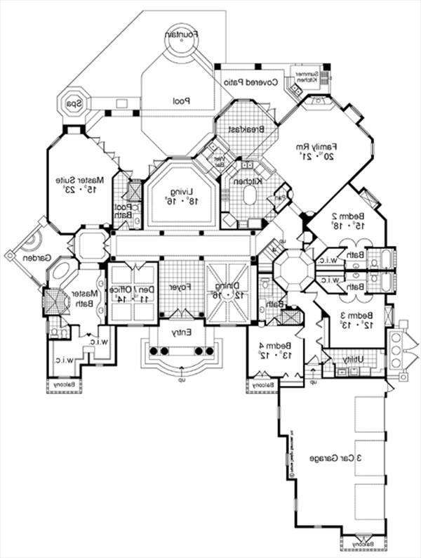 First Floor Plan image of Featured House Plan: BHG - 4156