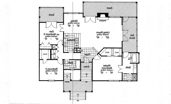 First Floor Plan image of Featured House Plan: BHG - 3934