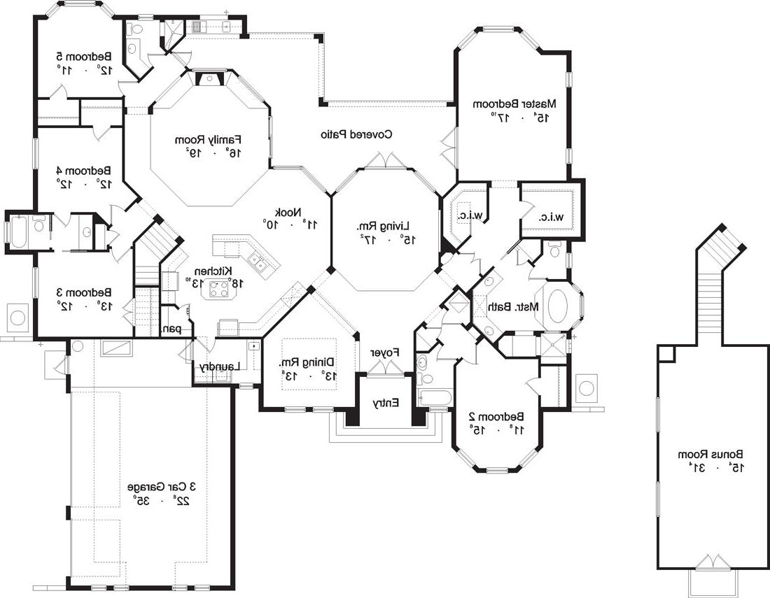 First Floor Plan image of Featured House Plan: BHG - 4127