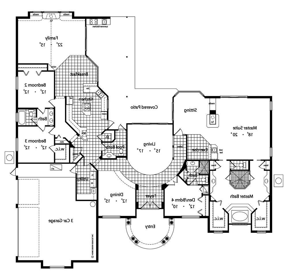 First Floor Plan image of Featured House Plan: BHG - 4136