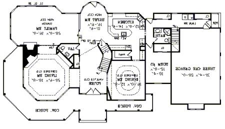 First Floor Plan image of Featured House Plan: BHG - 3754