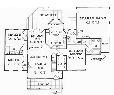First Floor Plan image of Featured House Plan: BHG - 4175