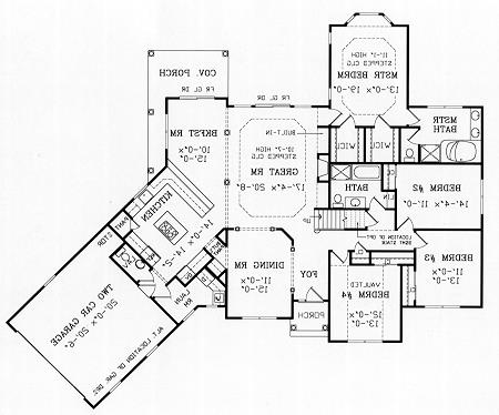 First Floor Plan image of Featured House Plan: BHG - 4184