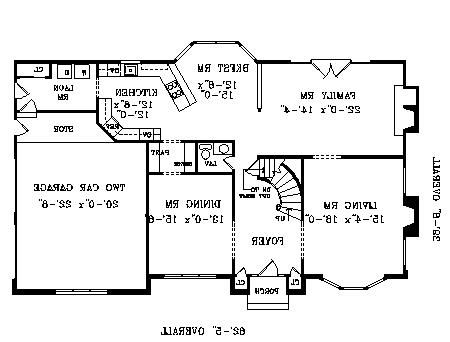 First Floor Plan image of Featured House Plan: BHG - 3756