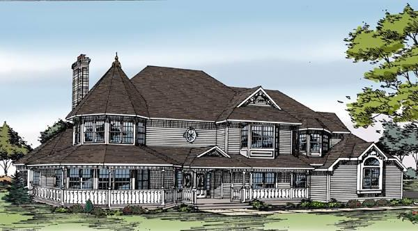 Front Rendering image of Featured House Plan: BHG - 3754