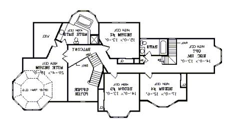 Second Floor Plan image of Featured House Plan: BHG - 3754