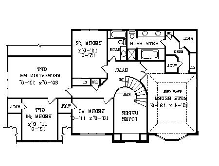 Second Floor Plan image of Featured House Plan: BHG - 3756