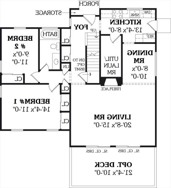First Floor Plan image of Featured House Plan: BHG - 3772