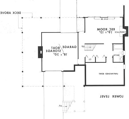 Lower Level image of Featured House Plan: BHG - 3769