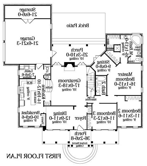 Floor Plan image of Featured House Plan: BHG - 4658
